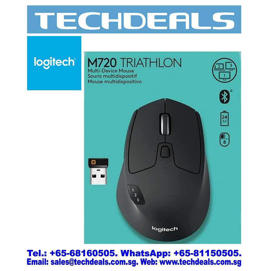 LOGITECH M720 MULTI-DEVICE WIRELESS MOUSE (1Y)