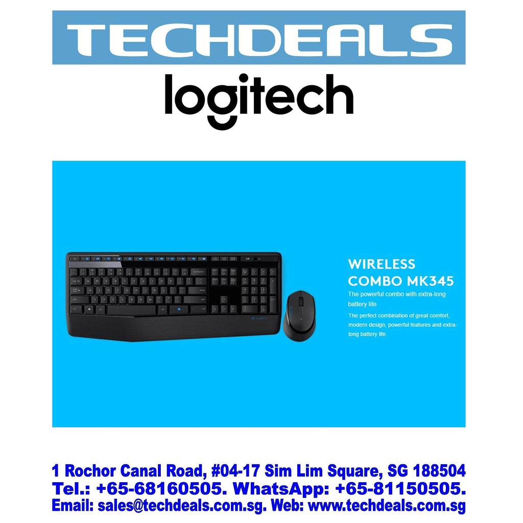 MK345 Wireless Keyboard & Mouse Combo