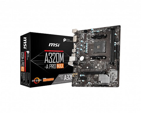 A320M-A Pro MAX AMD Socket AM4 mATX Motherboard