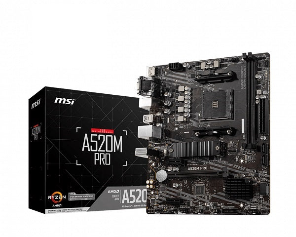 A520M Pro AMD Socket AM4 mATX Motherboard