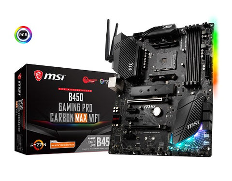 B450 Gaming Pro Carbon Max WiFi AMD Socket AM4 ATX Motherboard