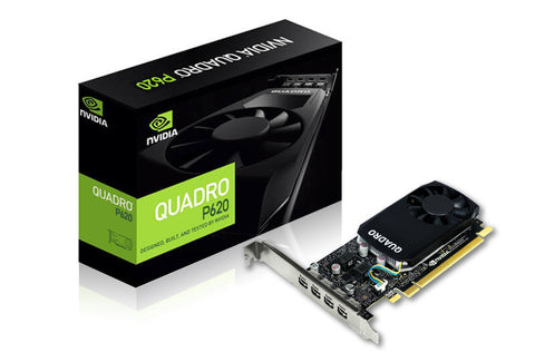 Nvidia Quadro P620 2GB GDDR5 Low Profile Graphics Card with mDP 1.4 x 4 Ports