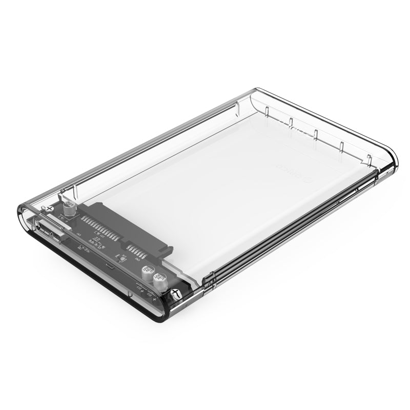 2.5-inch Transparent Plastic USB3.0 Enclosure for HDD / SSD