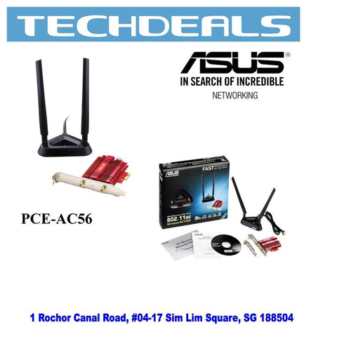 Asus PCE-AC56 Dual-Band PCE-E wireless AC1300 card