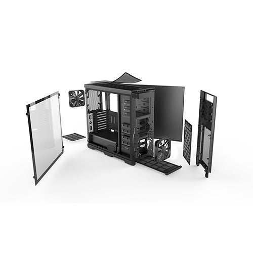 Enthoo Pro Tempered Glass window, Black PC Case