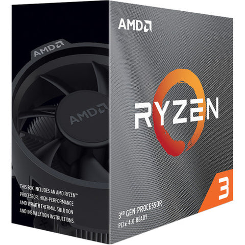 RYZEN 3 3100 4 Cores Processor with Wraith Stealth Cooler