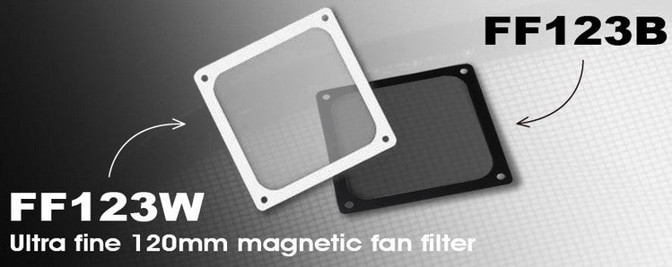SILVERSTONE 12CM FAN FILTER, BLACK