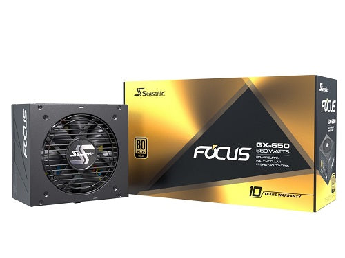 Focus GX-650 80 Plus Gold Fully Modular PSU with Hybrid Silent Fan 140mm Depth - 650W