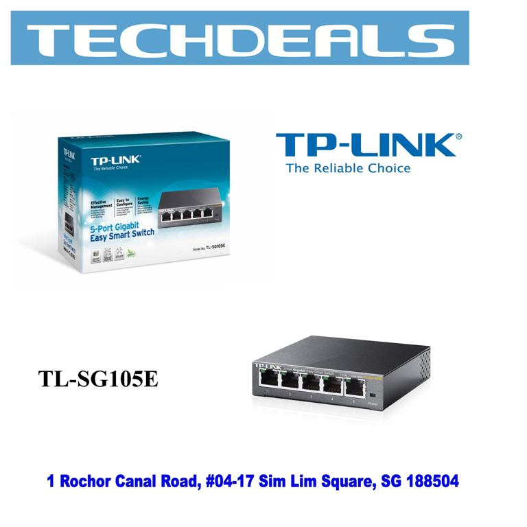 TP-Link TL-SG105E 5-Port Gigabit Desktop Easy Smart Switch