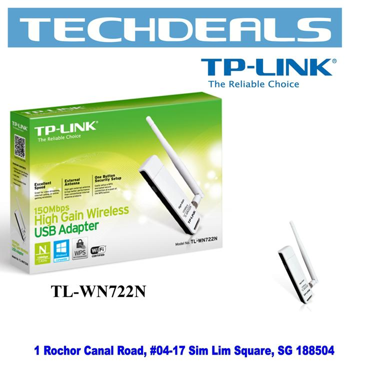 TP-Link TL-WN722N 150Mbps High Gain Wi-Fi USB Adapter