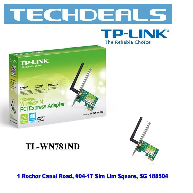 TP-Link TL-WN781ND 150Mbps Wi-Fi PCI Express Adapter