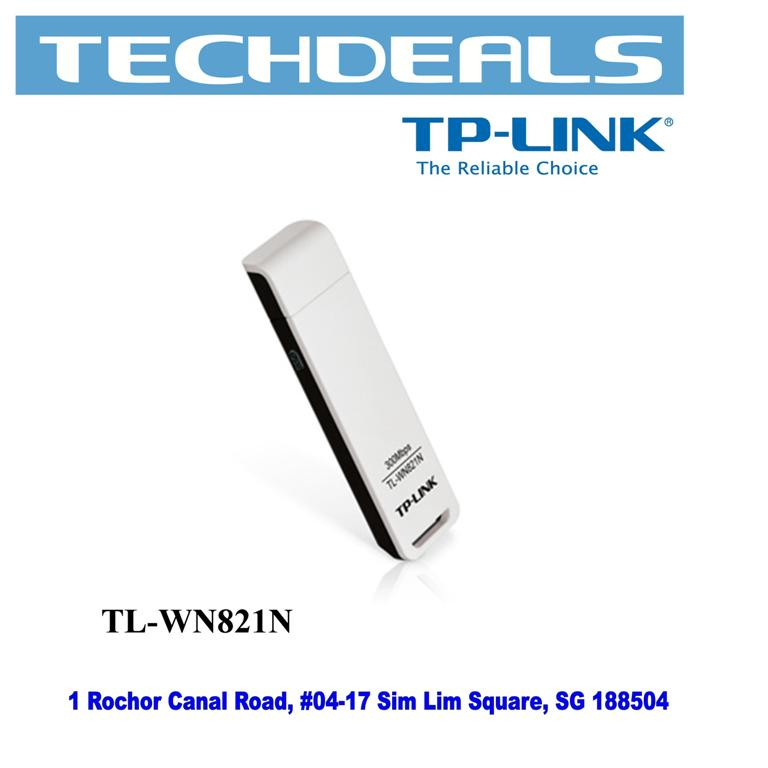 Tp-Link WN821N 300Mbps Wireless N USB Adapter