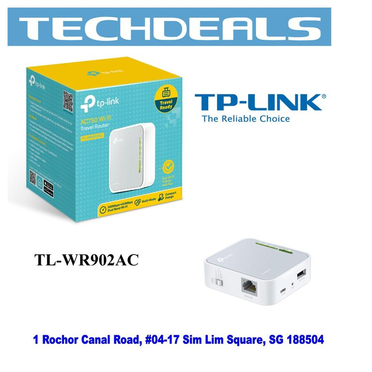TP-Link TL-WR902AC AC750 Mini Pocket Wi-Fi Router
