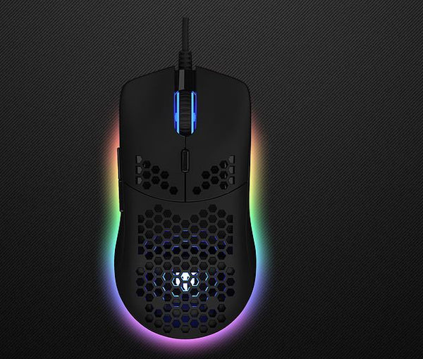 EXO+ Gaming Mouse | PixArt 3327 Sensor | 10000DPI | 69 Grams - Black