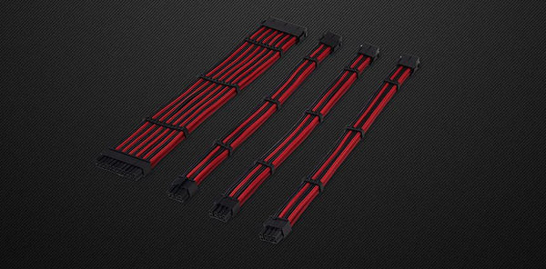 FLEX PSU Sleeved Extension Cables - 24pin / 4+4pin / 6+2pin*2
