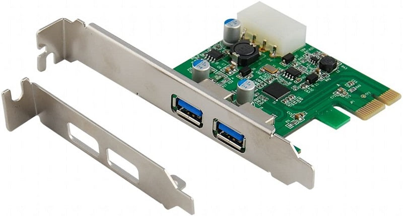 USB 3.0 2-Port PCI-Express Card with Low Profile support