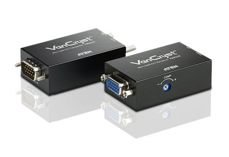 Aten VE022 Mini Cat5 VGA/Audio Extender. 1280x1024@60Hz (150m). VGA gain control. Non-powered(T)