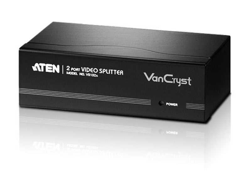 Aten VS132A 2 port VGA Splitter(450MHz).2048x1536@60Hz. 65m; w/o cable