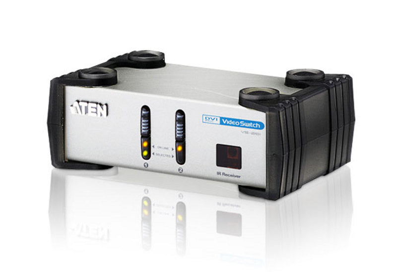 Aten VS261 2 Port DVI Video Switch. Audio enabled. IR Remote control.