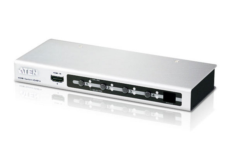 Aten VS481A 4-Port HDMI Switch. IR & RS232 Remote Control