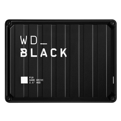 Black P10 Portable Game Drive Black