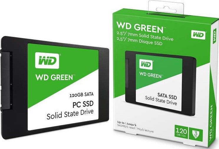 WD Green 120GB 2.5inch SATAIII SSD - 3years Warranty