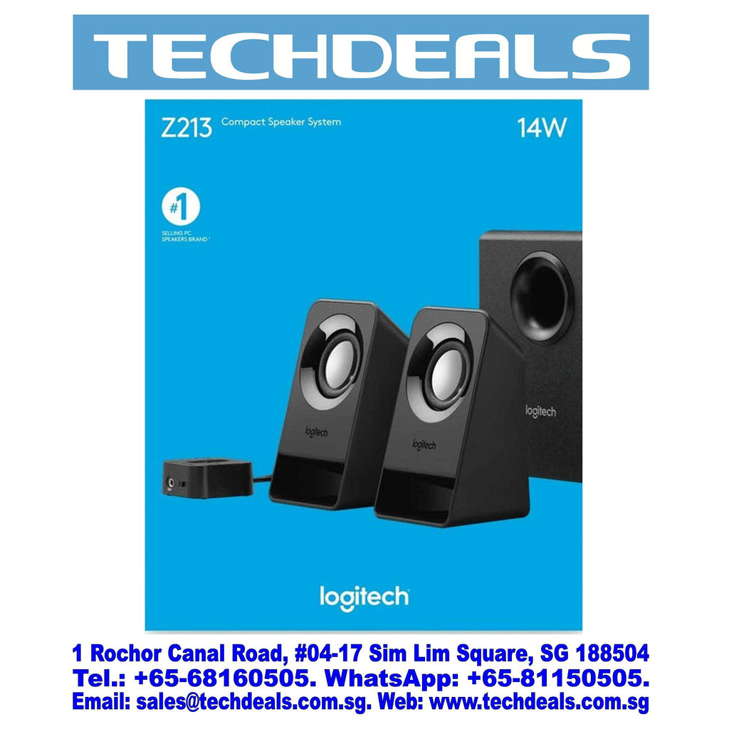 LOGITECH Z213 COMPACT 2.1 SPEAKERS[7W] (1Y)