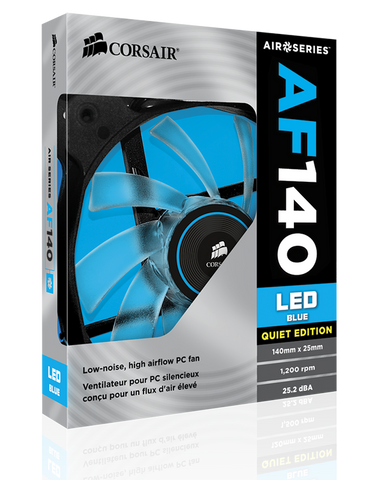 Corsair Air Series AF140 LED Quiet Edition High Airflow Fan - Blue