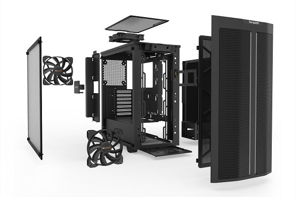 be quiet! Pure Base 500DX ATX Tempered Glass Case with 3*Pure Wings 2 and ARGB LED
