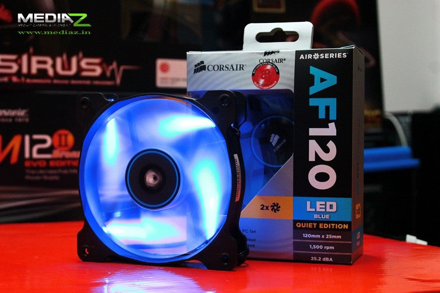 Corsair Air Series AF120 LED Quiet Edition High Airflow Fan Twin Pack