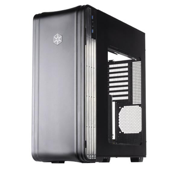 SilverStone SST-FT04B-W SSI-CEB, ATX, Micro-ATX Casing, Aluminum door and top panel,steel body