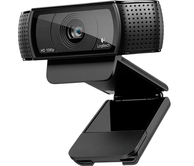 Logitech® HD Pro Webcam C920, 1080P, Carl Zeiss Lens, 15M photo, Auto Focus.