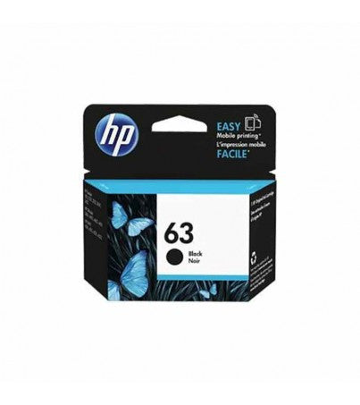 HP 63 Black Ink Cartridge F6U62AA