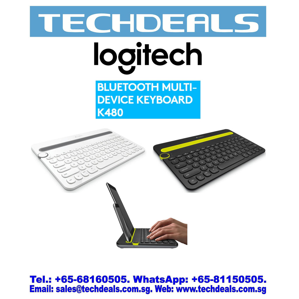 LOGITECH K480 MULTI-DEVICE BLUETOOTH KB BLACK (1Y)