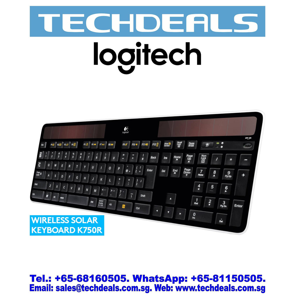 LOGITECH K750R WIRELESS SOLAR KEYBOARD (3Y)