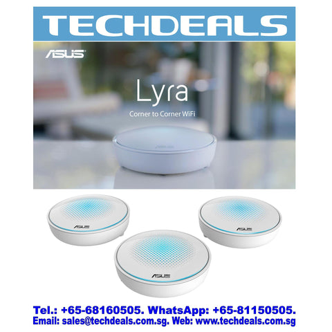 Asus Lyra Trio-10 (3-packs) Dual Band AC1750 Wifi Mesh System