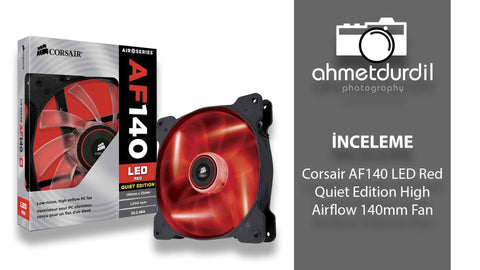 Corsair Air Series AF140 LED Quiet Edition High Airflow Fan - Red (0.72 KG)