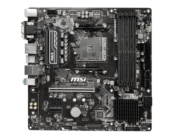 B450M PRO-VDH MAX AMD Socket AM4 mATX Motherboard