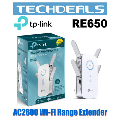 TP-Link RE650 AC2600 Wall Plug WiFi Range Extender