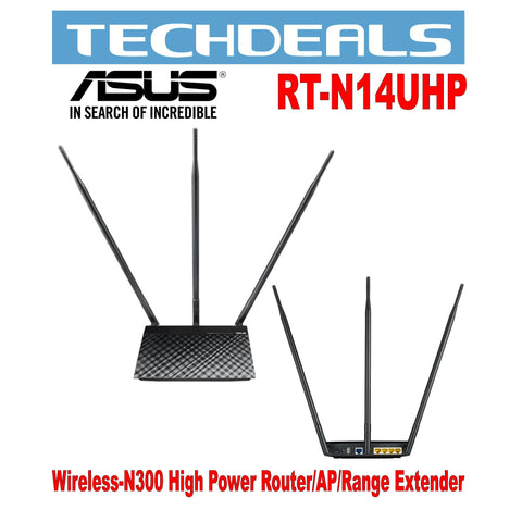 Asus RT-N14UHP Wireless-N300 High Power Router/AP/Range Extender