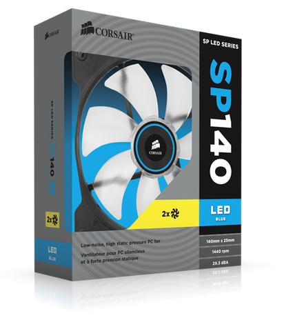 Corsair Air Series SP140 LED Blue High Static Pressure 140mm Fan (0.72 KG)