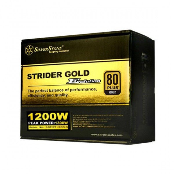 SilverStone SST-ST1200-G EVO Strider Gold Evolution 1200W 80 Plus Gold, Full Modular