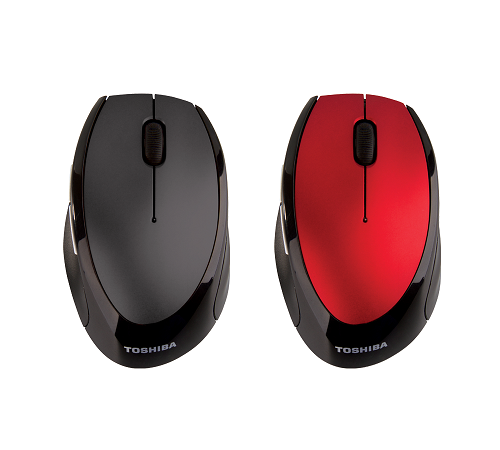 W80 Blue LED Wireless Optical Mouse | Grey | Red