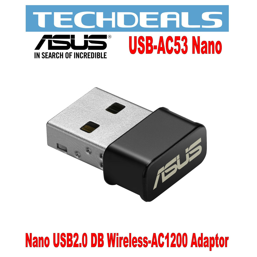 Asus USB-AC53 Nano USB 2.0 Dual Band Wireless -AC1200 Adaptor