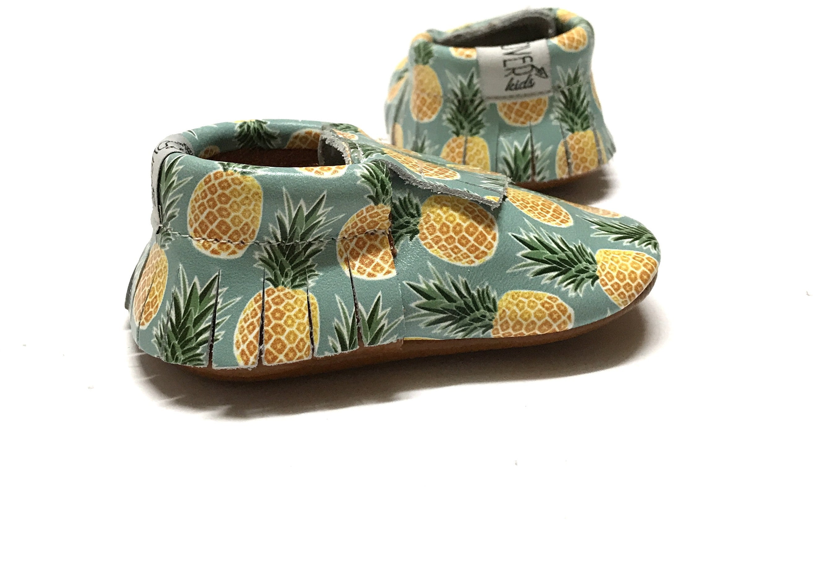 Sweet Pineapple Leather Moccasins