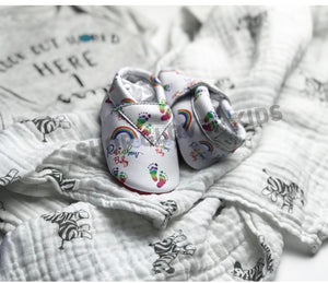 Rainbow Baby Leather Moccasins
