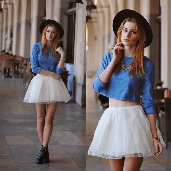 Stylish Top with Circular Skirt