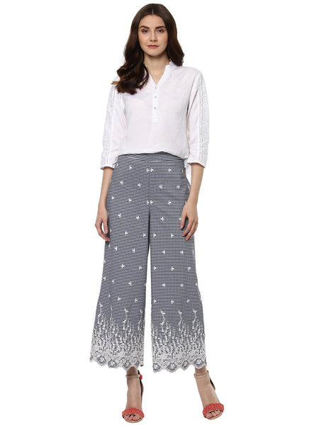 Stylish Top with Embroidered Trouser