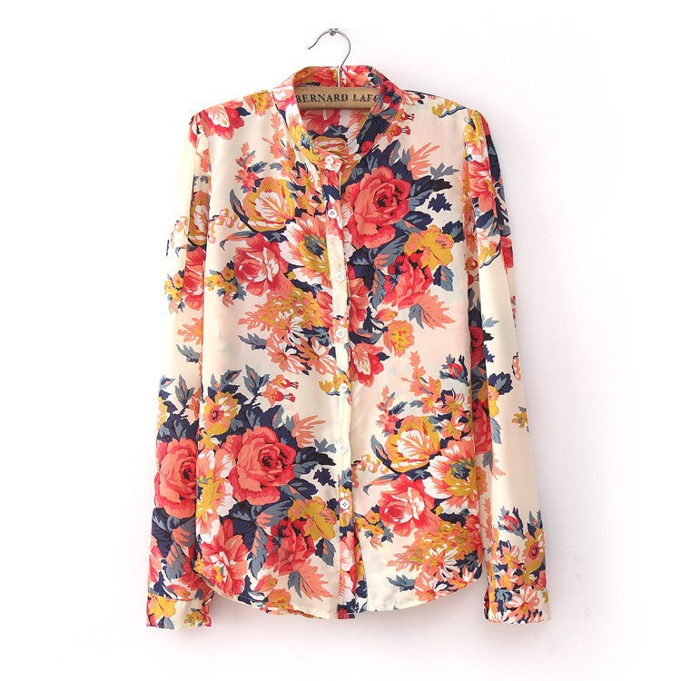 Chicy Floral Shirt