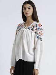 MIWAY WOMEN'S SOLID CASUAL TOP